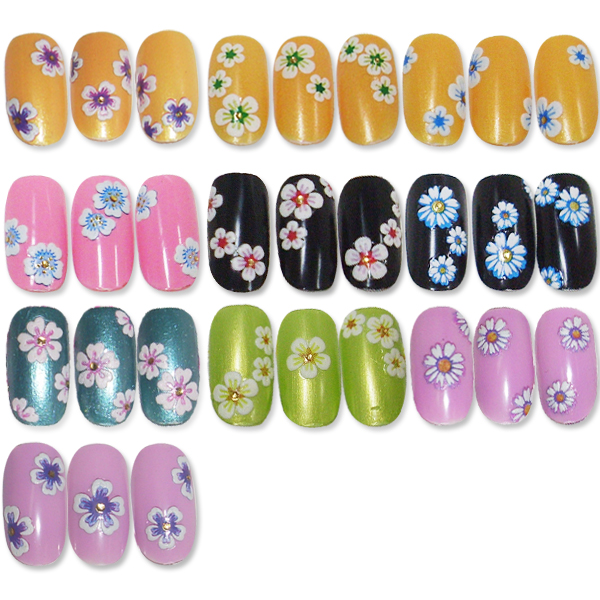 Product Show > Nail Stickers > 3D Flower Nail Sticker